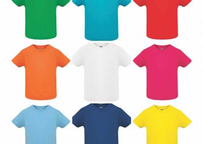 Camiseta cuello redondo sublimado estampado personalizado
