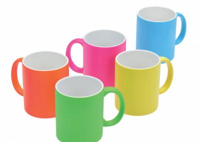 Mug Neon sublimacion estampado persoalizado